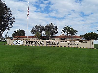 Oceanside, CA Eternal Hills Memorial Park Cemetery, Single Burial Plot