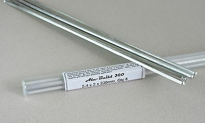 ALUMINIUM BRAZING SOLDER  Ultra low 300c  Ideal for repair & joining - 8 rods