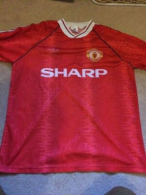 Rare MANCHESTER UNITED 1990/1992 Vintage Adidas Football Shirt Jersey Size M