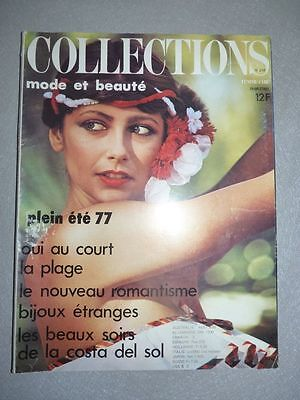 magazine mode fashion COLLECTIONS #219 plein été 1977