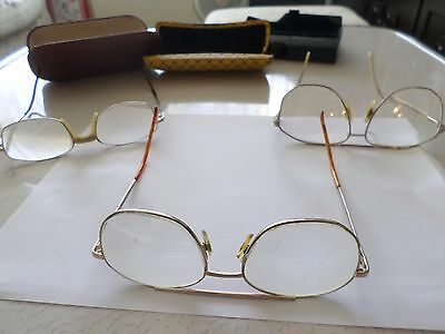 Three Pairs of Old Men's Prescription Spectacles