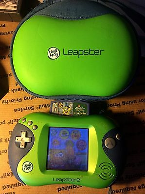 LeapFrog Leapster2 Learning Game System #21155 With Case & SpongeBob Game