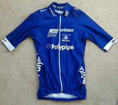 Polypipe Professional Cycling Team Short Sleeve Jersey Blue Bioracer Speedwear