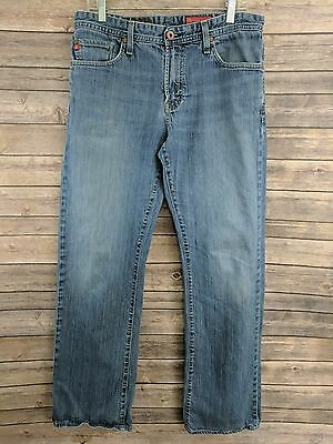 66e53639 AG Adriano Goldschmied The Hero Mens Jeans Straight Leg Med Wash Size 34 x  33