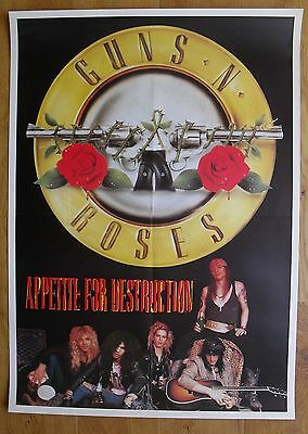 GUNS N' ROSES vintage poster  appetite for destruction