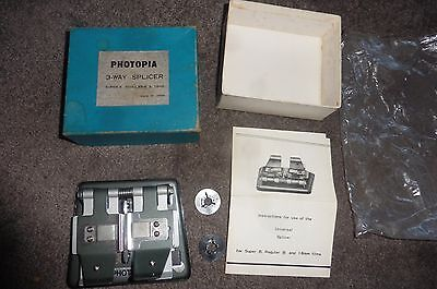 VINTAGE PHOTOPIA 3 WAY SPLICER SUPER 8.REGULAR 8 & 16mm