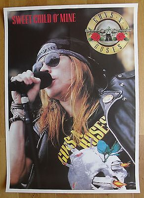 GUNS N' ROSES vintage poster sweet child o' mine