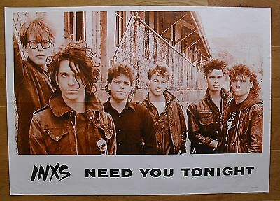 INXS vintage poster  need you tonight
