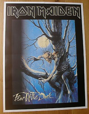 IRON MAIDEN  fear of the dark vintage poster  metal