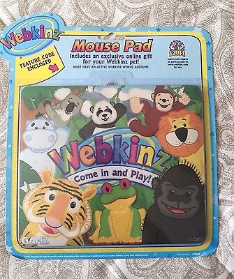 Webkinz Mouse Pad - It's a Jungle - Feature Code Enclosed