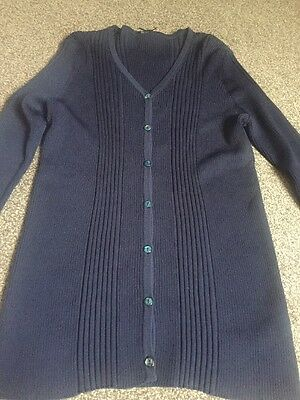 Ladies Vortex Blue Cardigan New With Tag Size 4