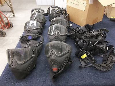 10 Eye Tactical Military Goggles Shield Mask Paintball Black Parts Scratches