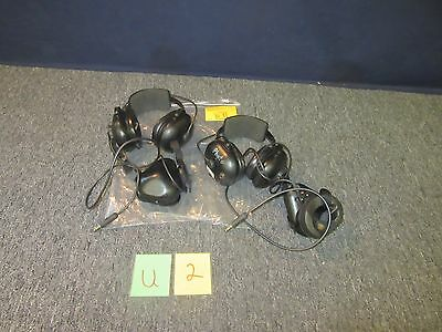 "2 David Clark Aviation Military Headset Microphone Cup 1/4"" Crew 12135C-06 Used"