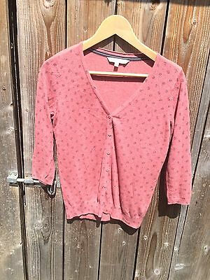 Pink Summer Printed Cardigan 3/4 Sleeve Fat Face Size 8