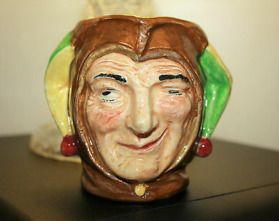 Royal Doulton 'Jester' Small Character Jug c.1930's 8 cm high
