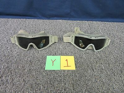 2 Revision Locust Dark Lens Ballistic Protective Shooting Paintball Goggles Used