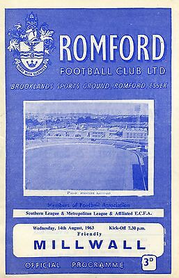 Romford v Millwall, 14/8/63, Pre-Season Friendly