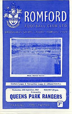Romford v Queens Park Rangers, 25/9/63, Friendly
