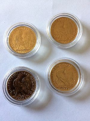 lot de 4 pièces 20 francs or MARIANNE