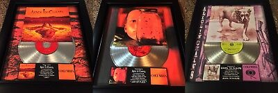 3 VERY RARE! Alice  In Chains Platinum Record Album Disc Music Award RIAA MTV
