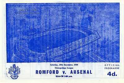 "Romford v Arsenal ""A"", 28/12/68, Metropolitan League"