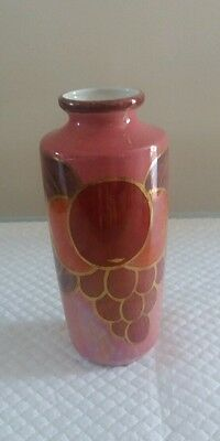Vintage Lawley's small vase/ornament pink Handpainted