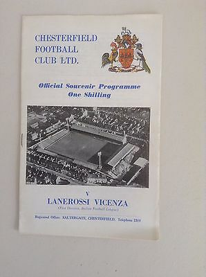 1969/70  Chesterfield v  Lanerossi Vicenza   Football Programme