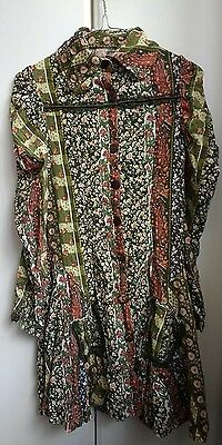 Womens Vintage Retro 70s Style Dress Size Small 8/10