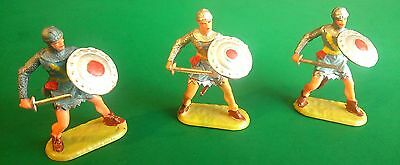 ELASTOLIN 40mm - Normans - Prince Valiant Duelling (M8803) x 3 - Excellent
