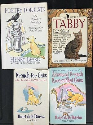 Cat Lovers Used Gift Book Lot - Poetry For Cats - French For Cats - 5 Books USED