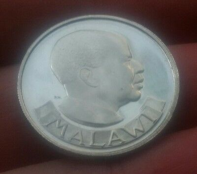 1964 Malawi one shilling coin , very high grade mirror like finish