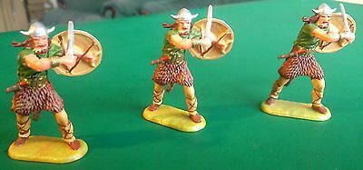 ELASTOLIN 40mm - Viking Swordsmen Green M8504 x 3 - Excellent