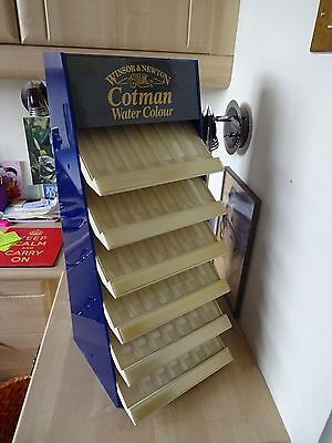 Vintage 1970s Windsor& Newton Water Colour Pen Shop Display Stand Advertising