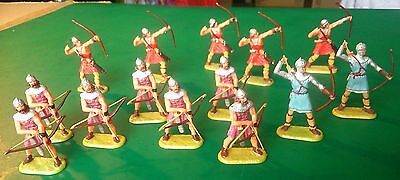 ELASTOLIN 40mm - Viking Archers Mixture of 3 poses x 14 - Excellent