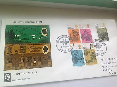 1970 Literary Anniversaries  SPECIAL  Curiosity Shop postmark on Cameo Cover