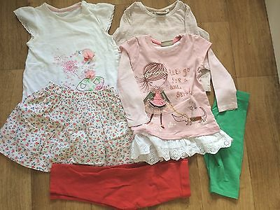 Next,M&S,Mothercare Baby Girls Bundle Summer Clothes 12-18 Month(6 Items)
