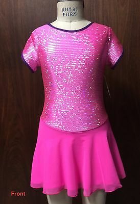 Ice Skating Dress Size Adult X Small Hot Pink sparkles