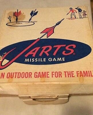 Vintage Jarts Missile Game Lawn Darts Box Only Great For Display