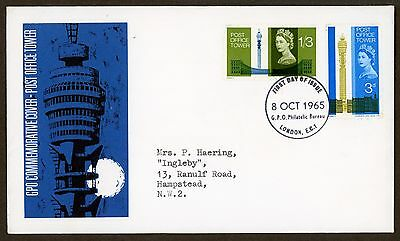 Fdc   First Day Cover 1965 Post Office Tower London E.c.1 Postmark G.p.o.