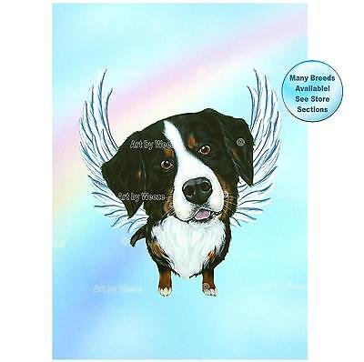 Bernese Mountain Dog Angel Art Print Dog Memorial Picture Pet Loss Gift