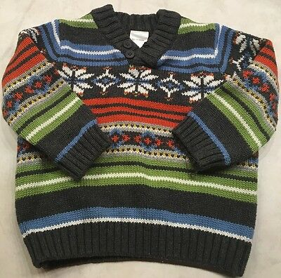 EUC Gymboree Winter Christmas Sweater Baby Boys 12-18 Months Striped- Super Cute
