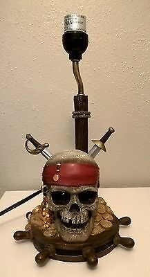 Disney Store Shopping Pirates of the Caribbean Lamp light Skull Swords
