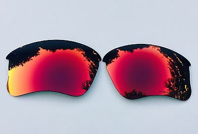 Engraved Polarized Ruby Red Mirrored Replacement Oakley Flak Jacket Xlj  Lenses