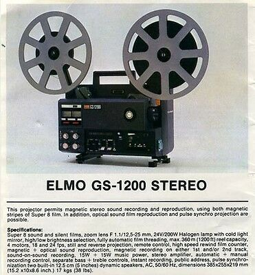 ELMO GS 1200 Super 8mm Sound Projector