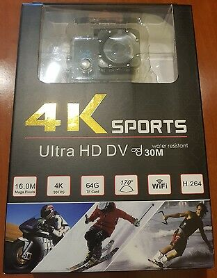 Action Camera Be Unique 4K/30fps H.264 Wifi 16MP 30m waterproof