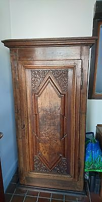18th century solid oak French armoir single door