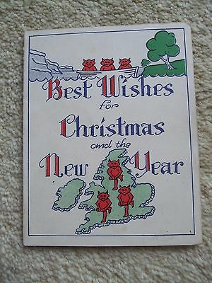 Vintage Greetings Card - Christmas & New Year ( LINCOLNSHIRE REGIMENT)