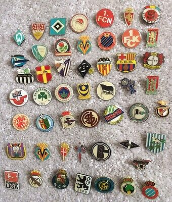 100 enamel pin badges - European football clubs