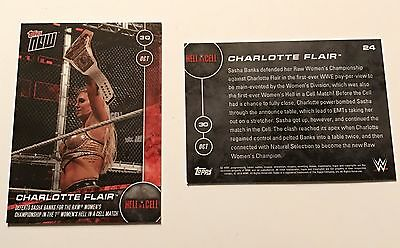 Charlotte Flair WWE Topps Now Hell in a Cell #24 10/30/2016 Sasha Banks