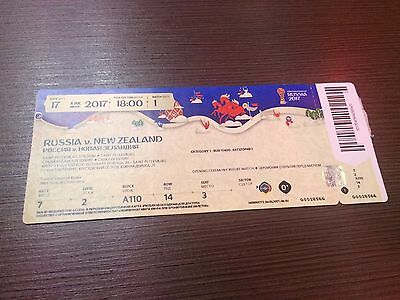 Mint Ticket Confedcup 2017 #1 Russia New Zealand Russland Neuseeland